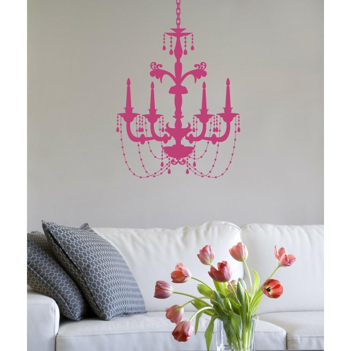 Alphabet garden designs chic chandelier wall decal wayfair for Alphabet garden designs