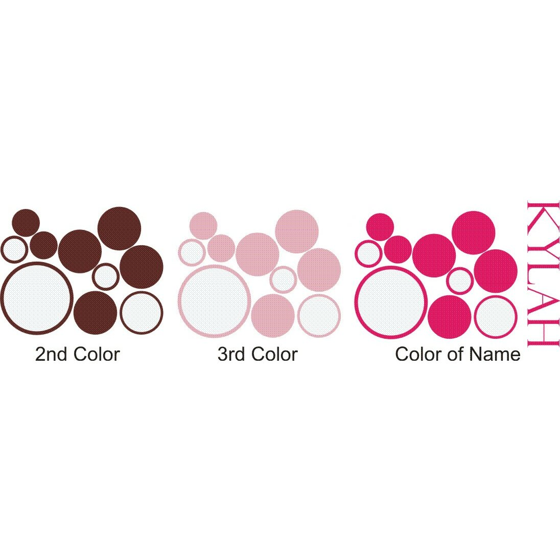 Alphabet garden designs personalized girls 39 dots and for Alphabet garden designs