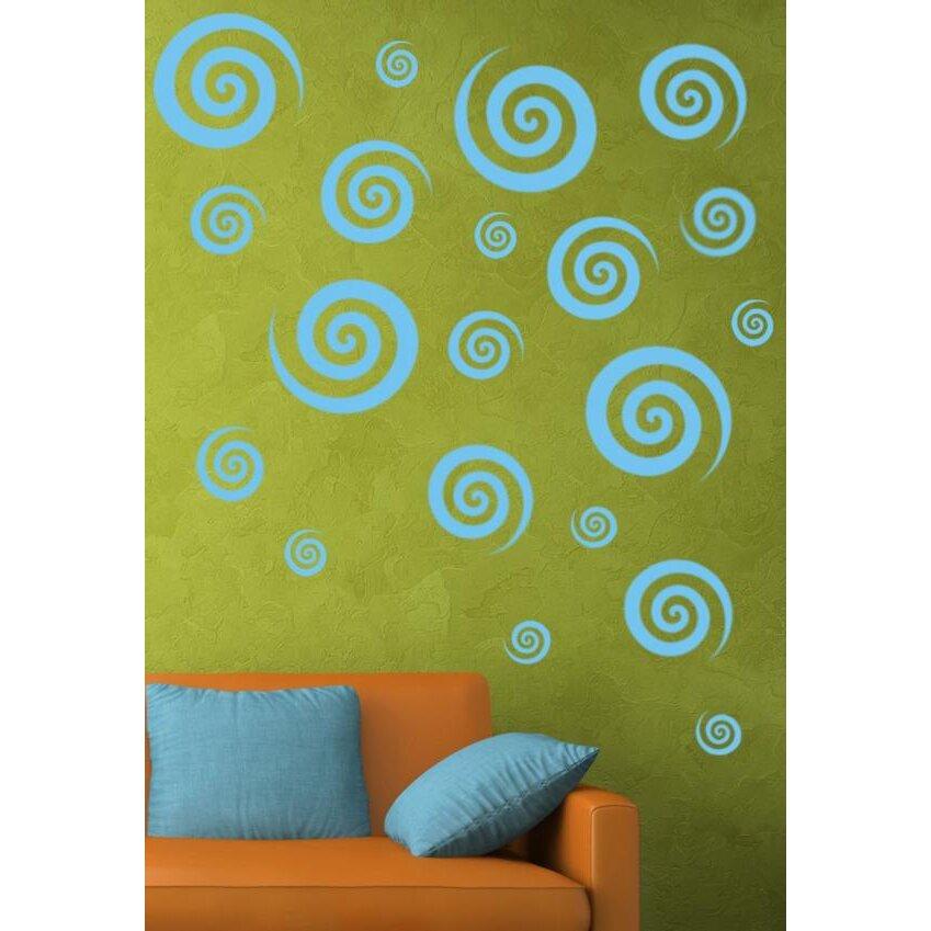Alphabet garden designs swirly swirls set wall decal for Alphabet garden designs