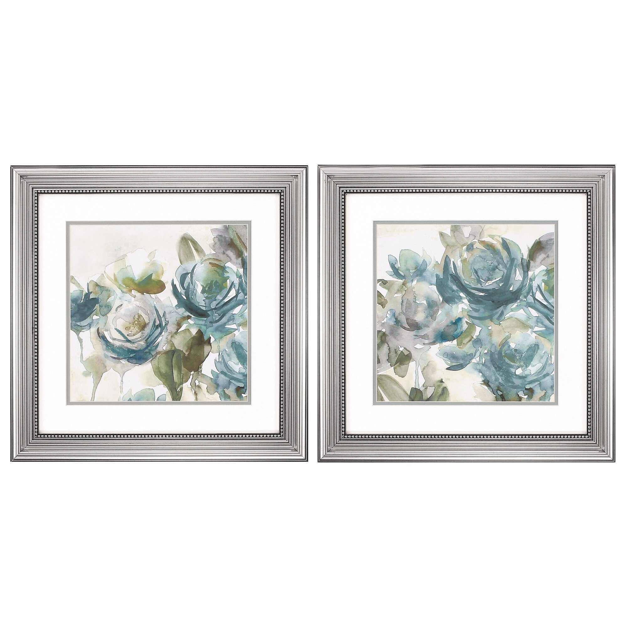 Wall Decor Sets Of 2 : Propac images secret garden piece framed painting print