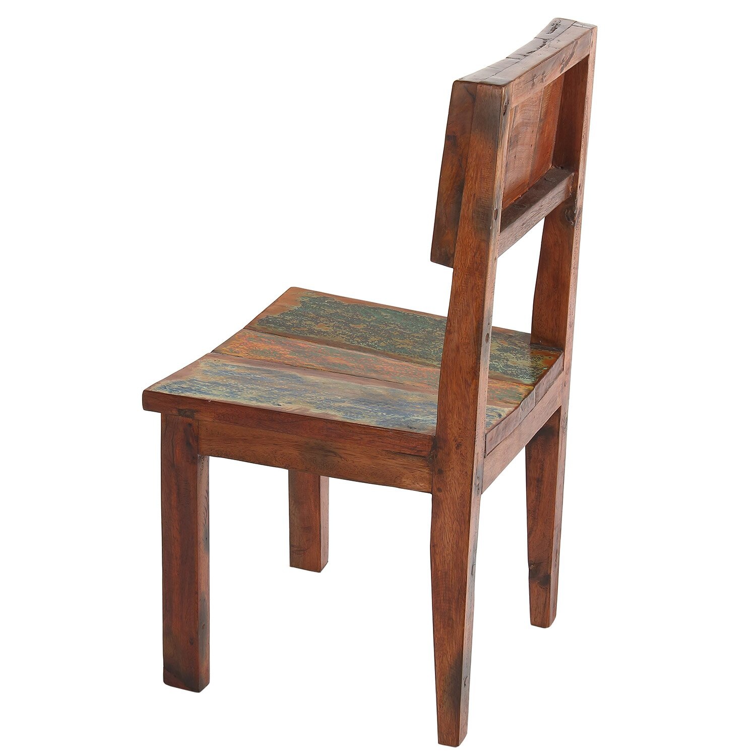 Polivaz reclaimed boat wood side dining chair reviews