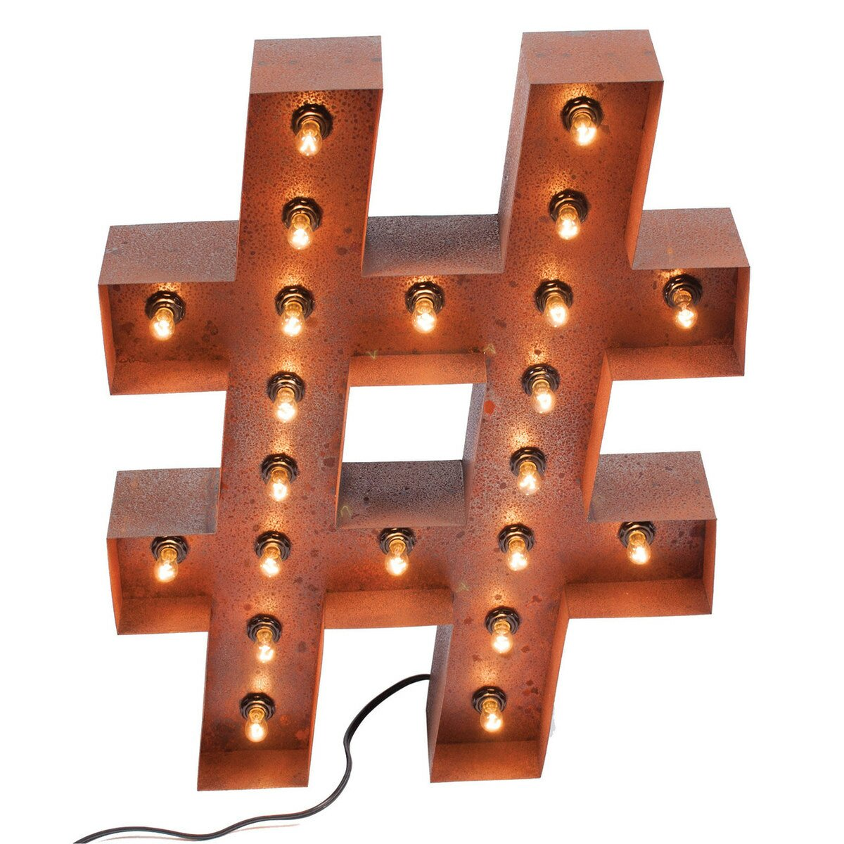PoliVaz Hashtag Vintage Marquee Light Wall Décor