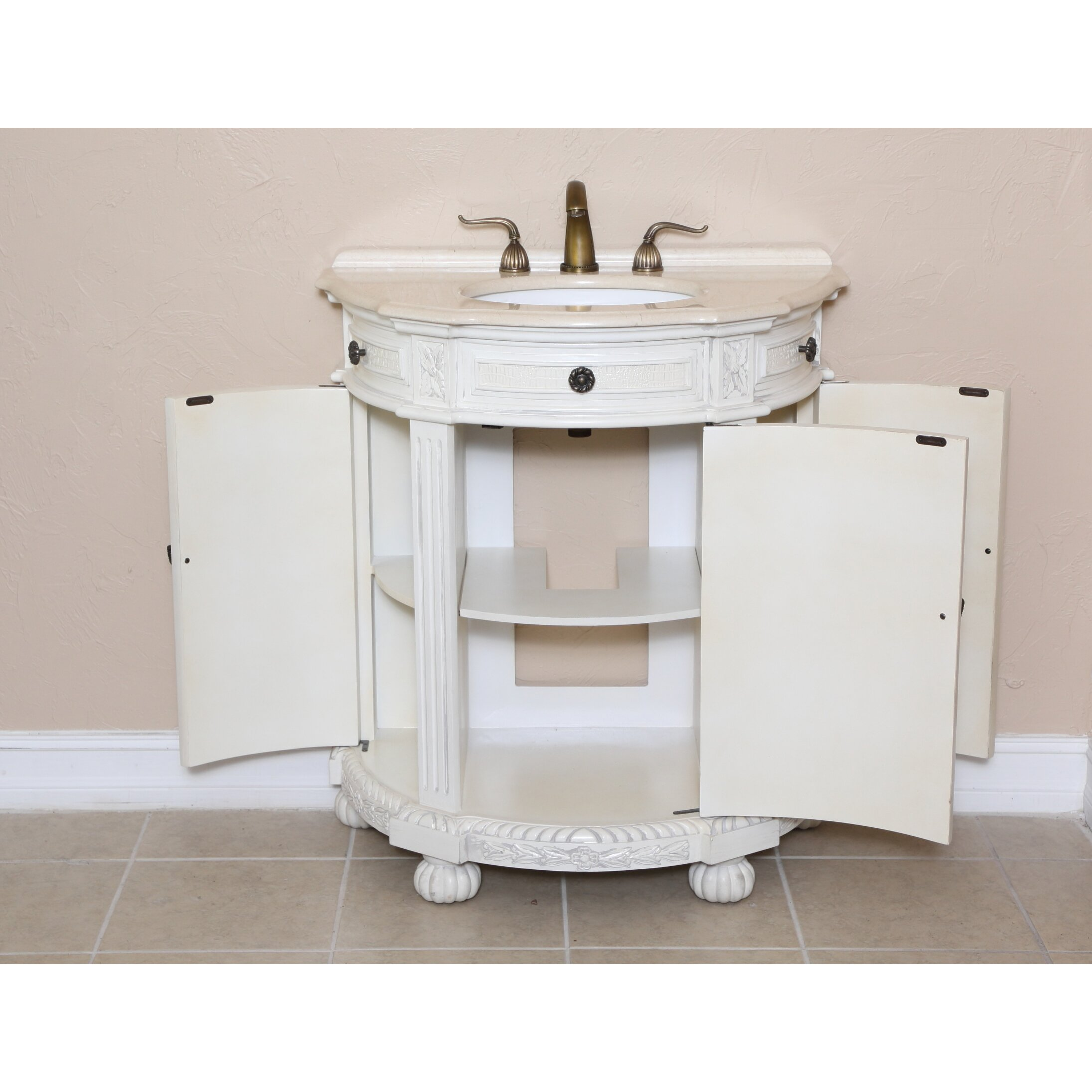 b i direct imports josh 31 single demilune bathroom vanity set