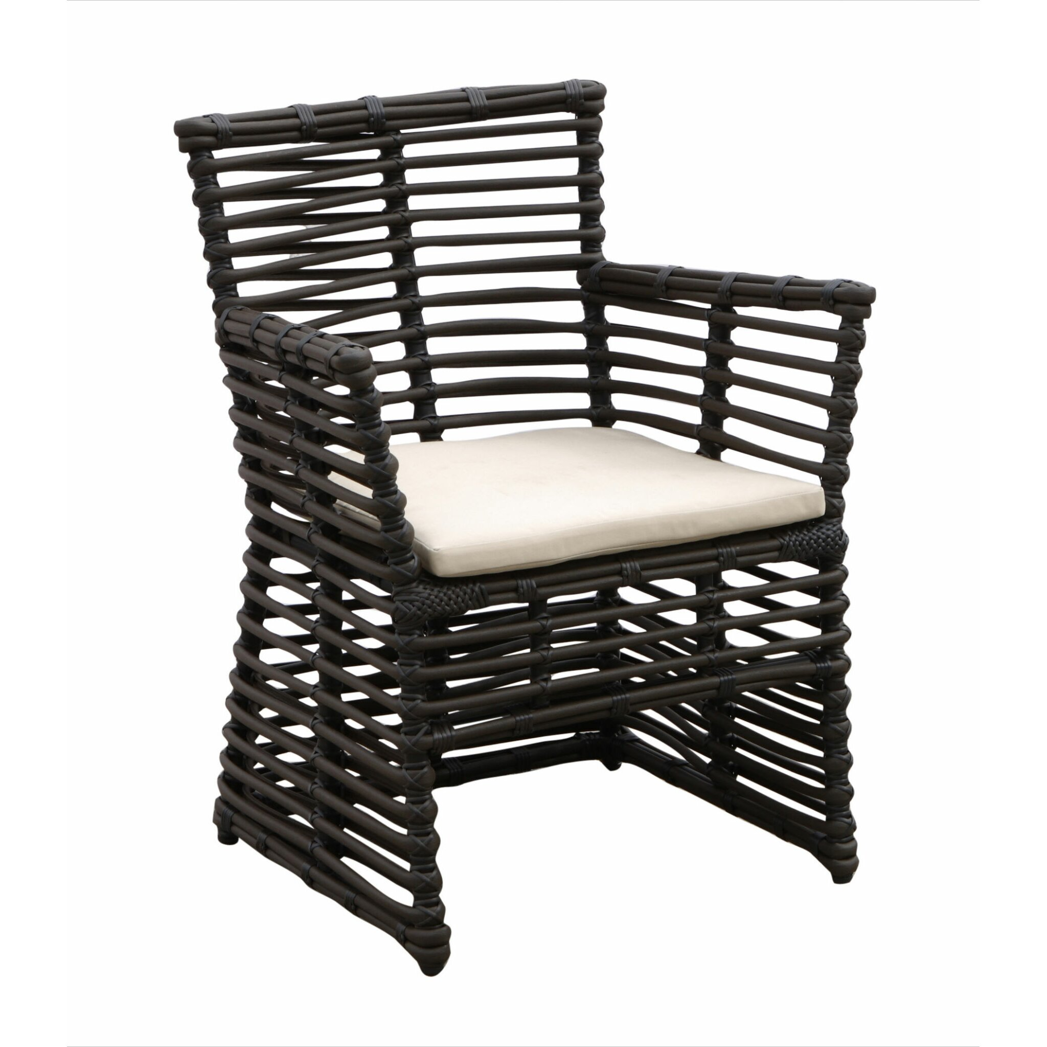 Sunset West Venice Dining Arm Chair with Cushion