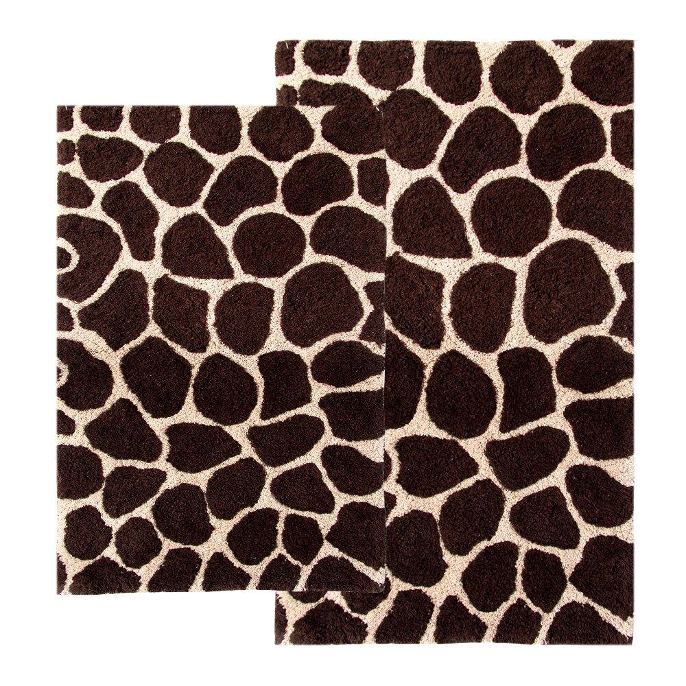 Animal Print Bath Rug: Chesapeake Safari Giraffe Contemporary Bath Rug & Reviews