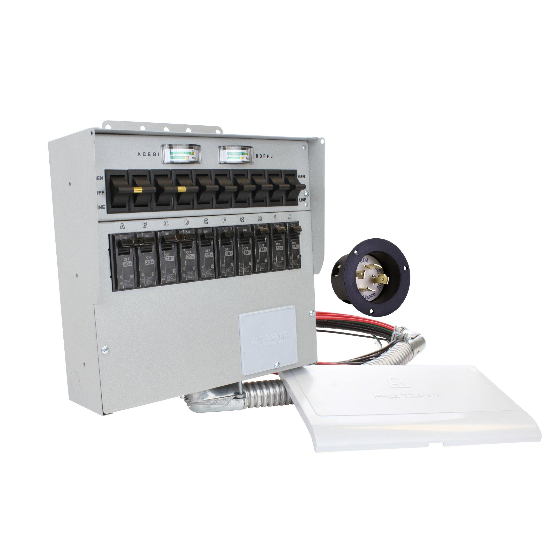 Reliance Controls Pro/Tran 30-Amp 10-Circuit 2 Manual Transfer Switch