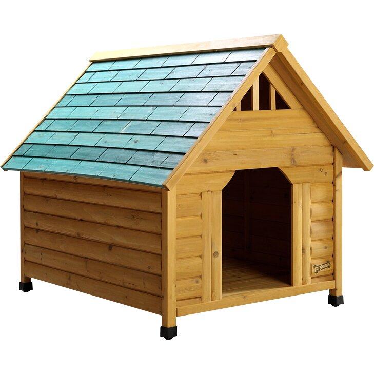 Pet squeak alpine lodge dog house reviews wayfair for Pet squeak dog house