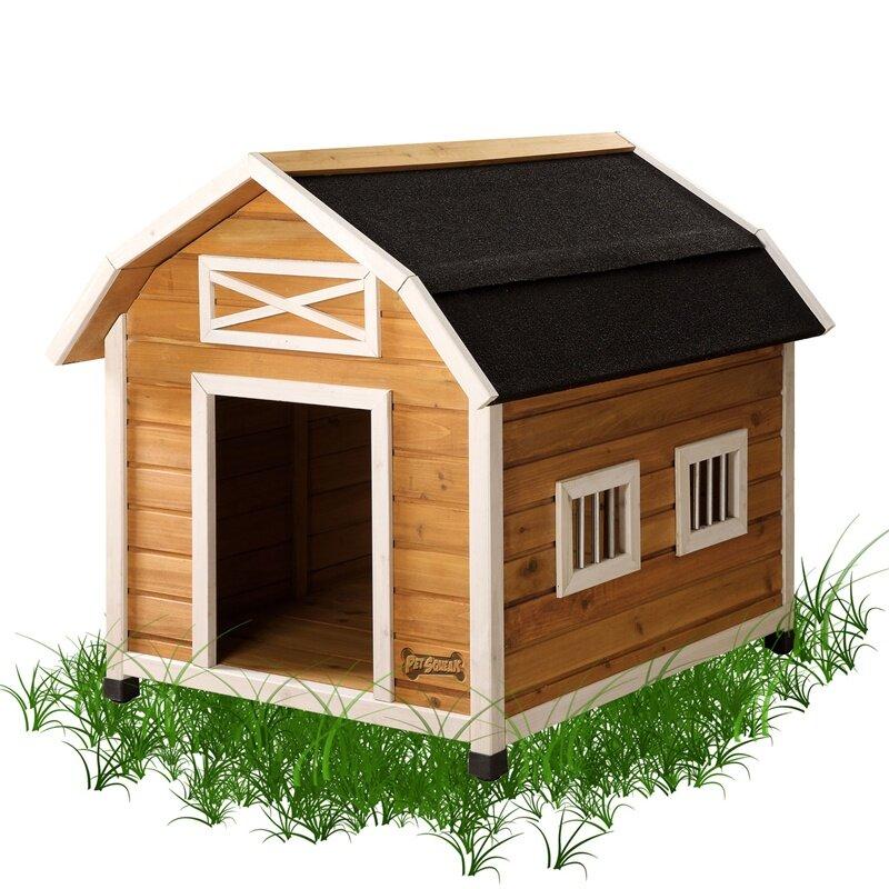 Pet squeak the barn dog house reviews wayfair for Pet squeak dog house