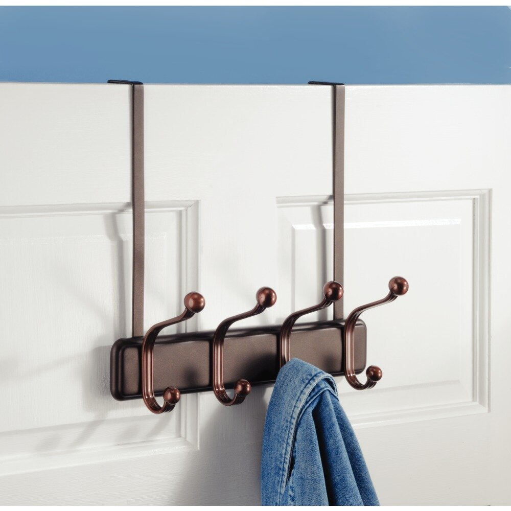 Over The Door Towel Rack Bathroom: InterDesign York Over-the-Door 4-Hook Towel Rack & Reviews