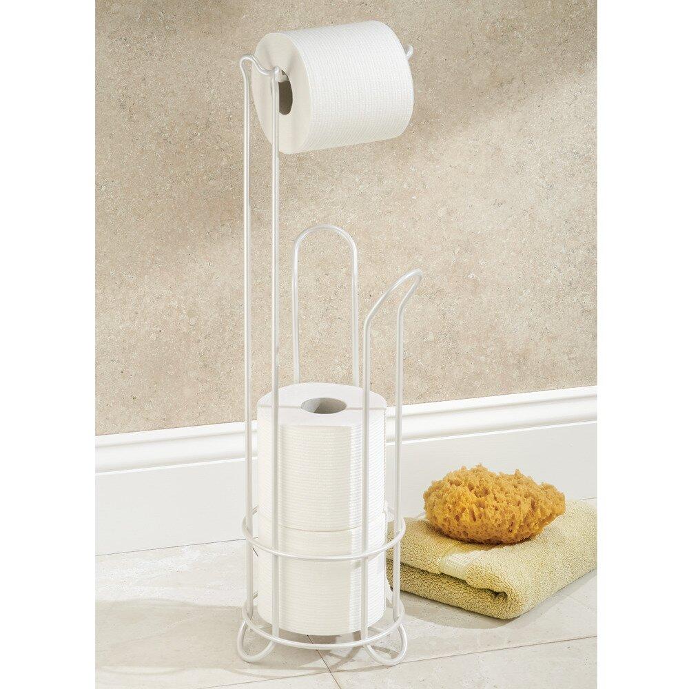 Interdesign classico free standing toilet paper holder reviews wayfair - Interdesign toilet paper holder ...