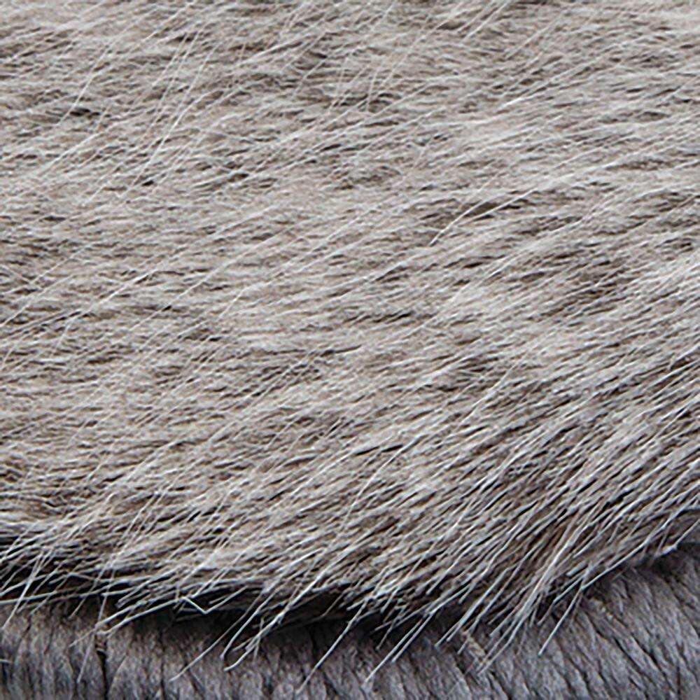 InterDesign Gray Faux Fur Mat