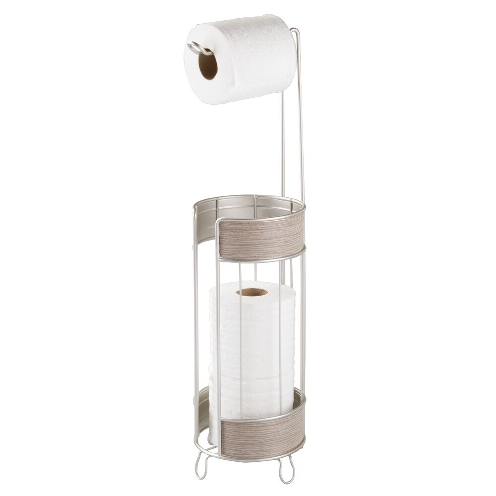 Interdesign Real Wood Free Standing Toilet Paper Holder