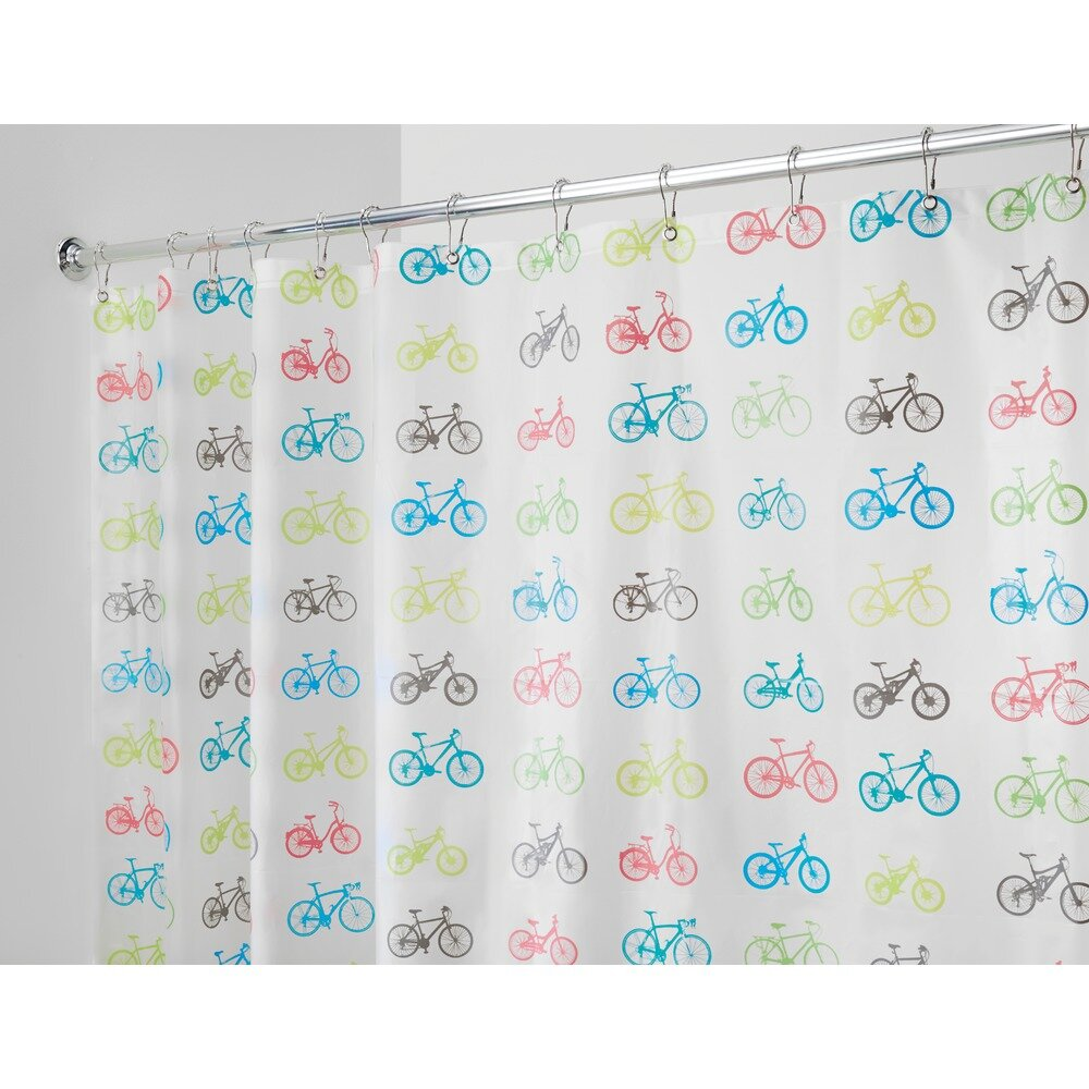 Interdesign bikes shower curtain wayfair for Inter designs