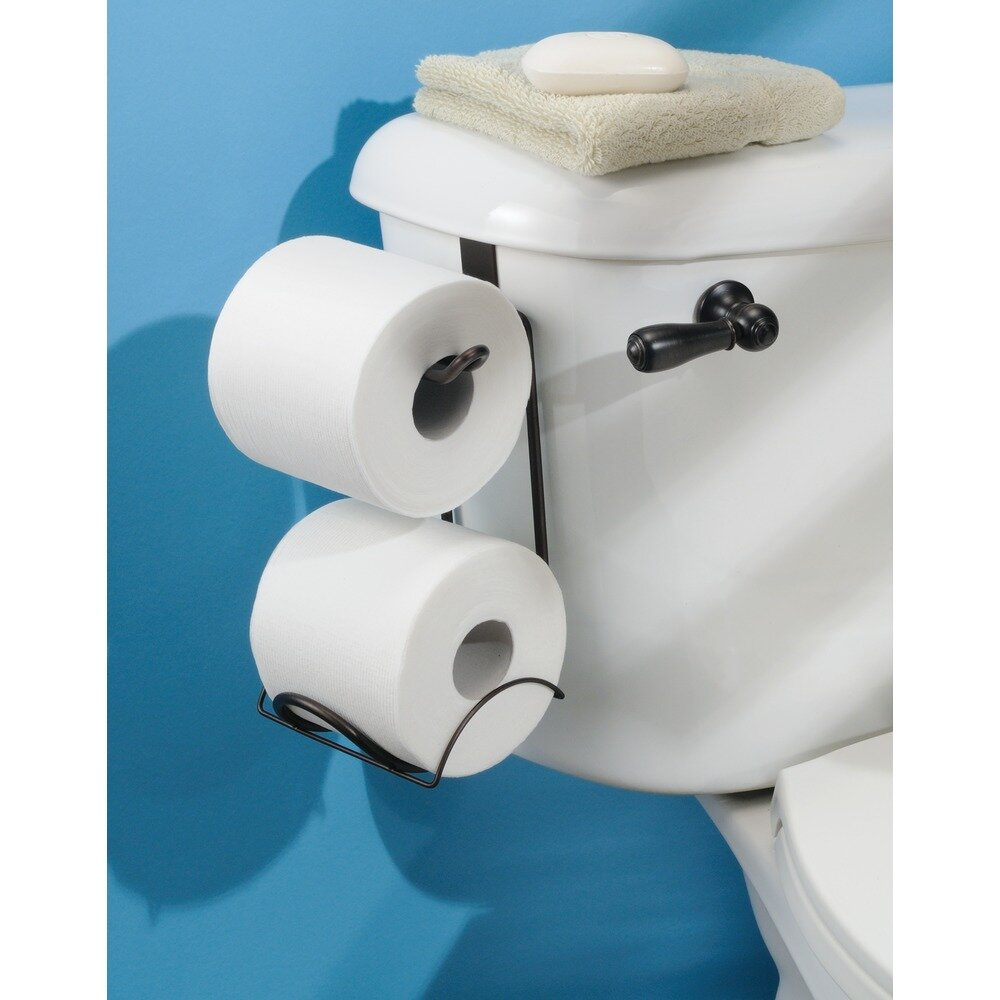 Interdesign classico over the tank toilet paper holder wayfair - Interdesign toilet paper holder ...