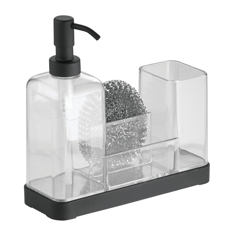 Interdesign Forma Kitchen Soap Dispenser Pump Sponge Scrubby And Dish Brush Caddy Organizer