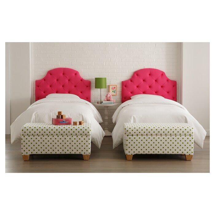 Skyline Furniture Tufted Cotton Upholstered Headboard Reviews Wayfair