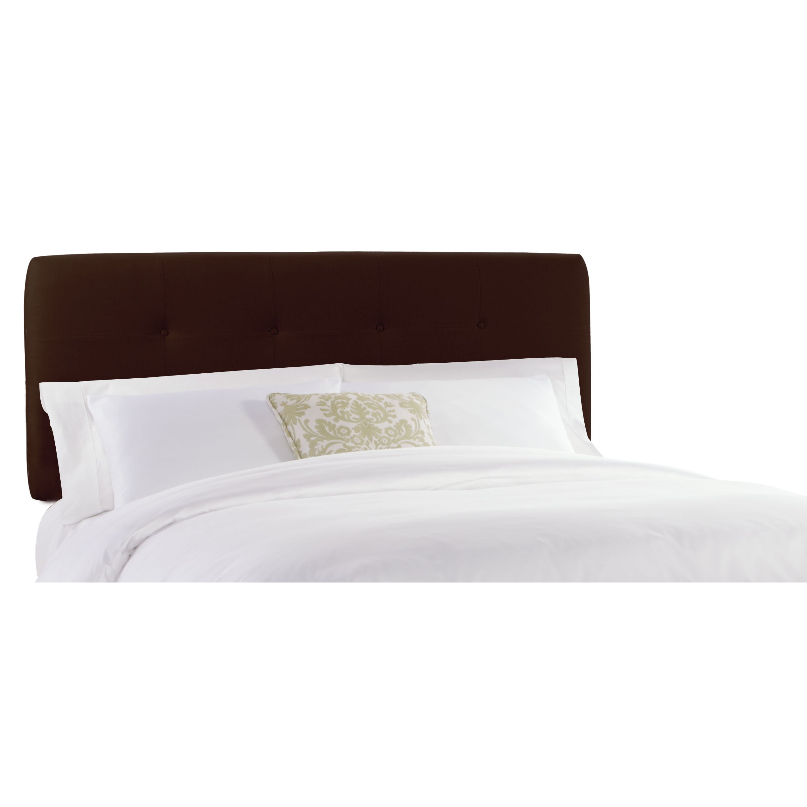 Skyline Furniture Double Button Tufted Upholstered Headboard Reviews Wayfair