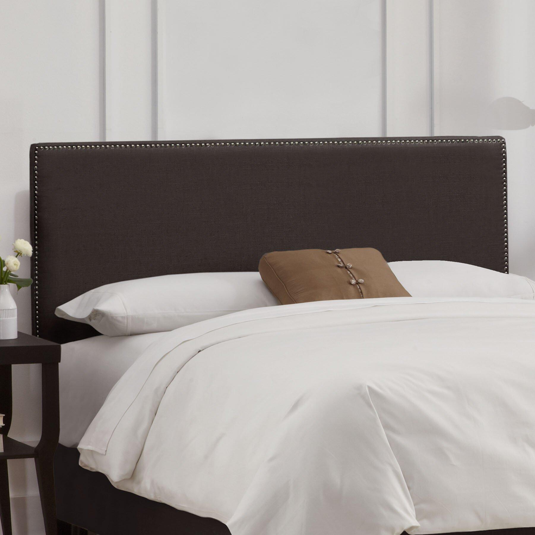 Skyline Furniture Nail Button Linen Upholstered Panel Headboard Wayfair