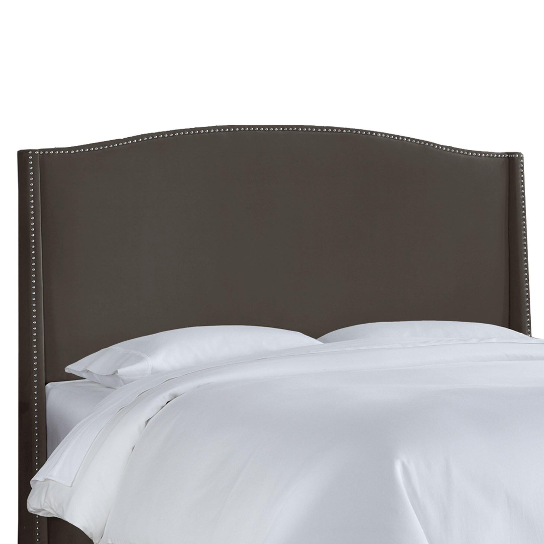 Skyline Furniture Nail Button Velvet Wingback Upholstered