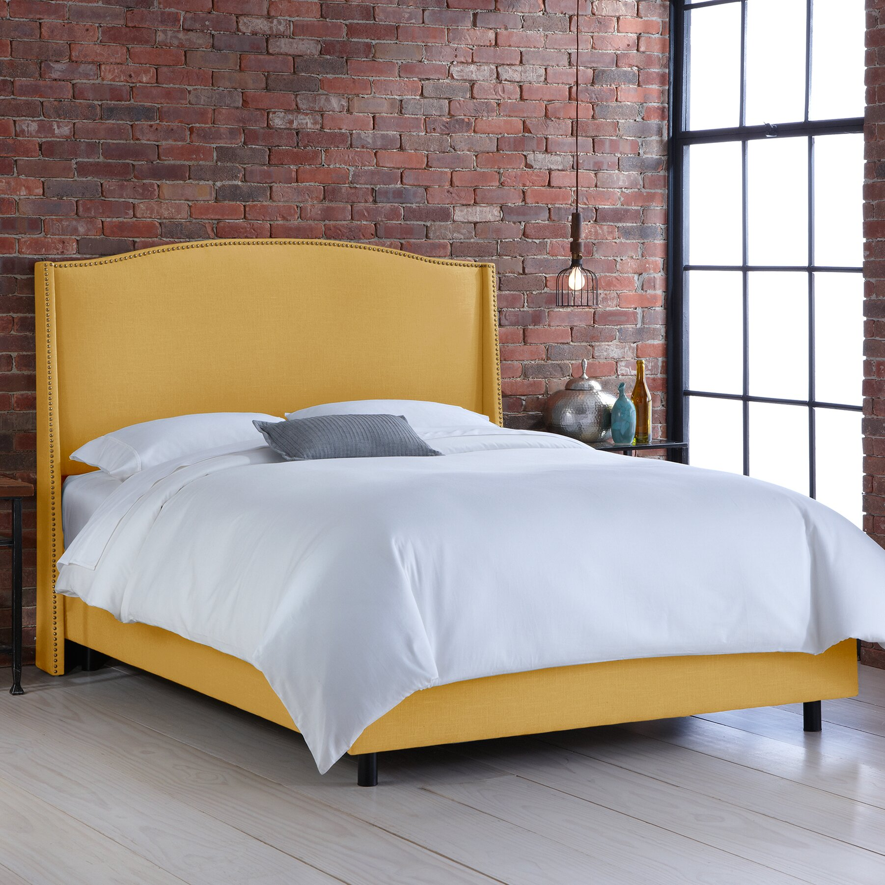 Wayfair All Modern: Skyline Furniture Nail Button Upholstered Panel Bed