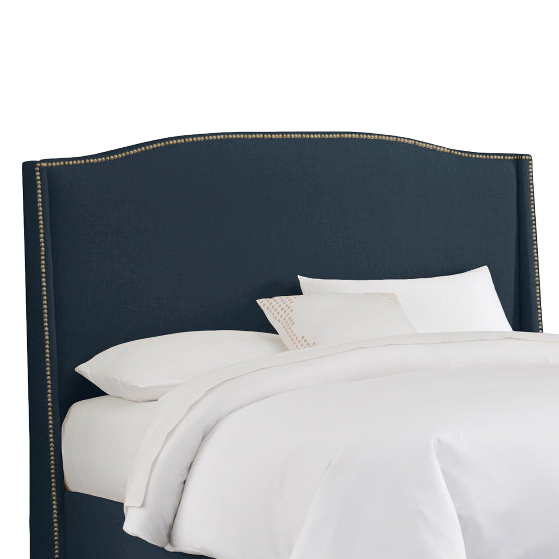 Skyline Furniture Nail Button Linen Upholstered Wingback Headboard Reviews Wayfair