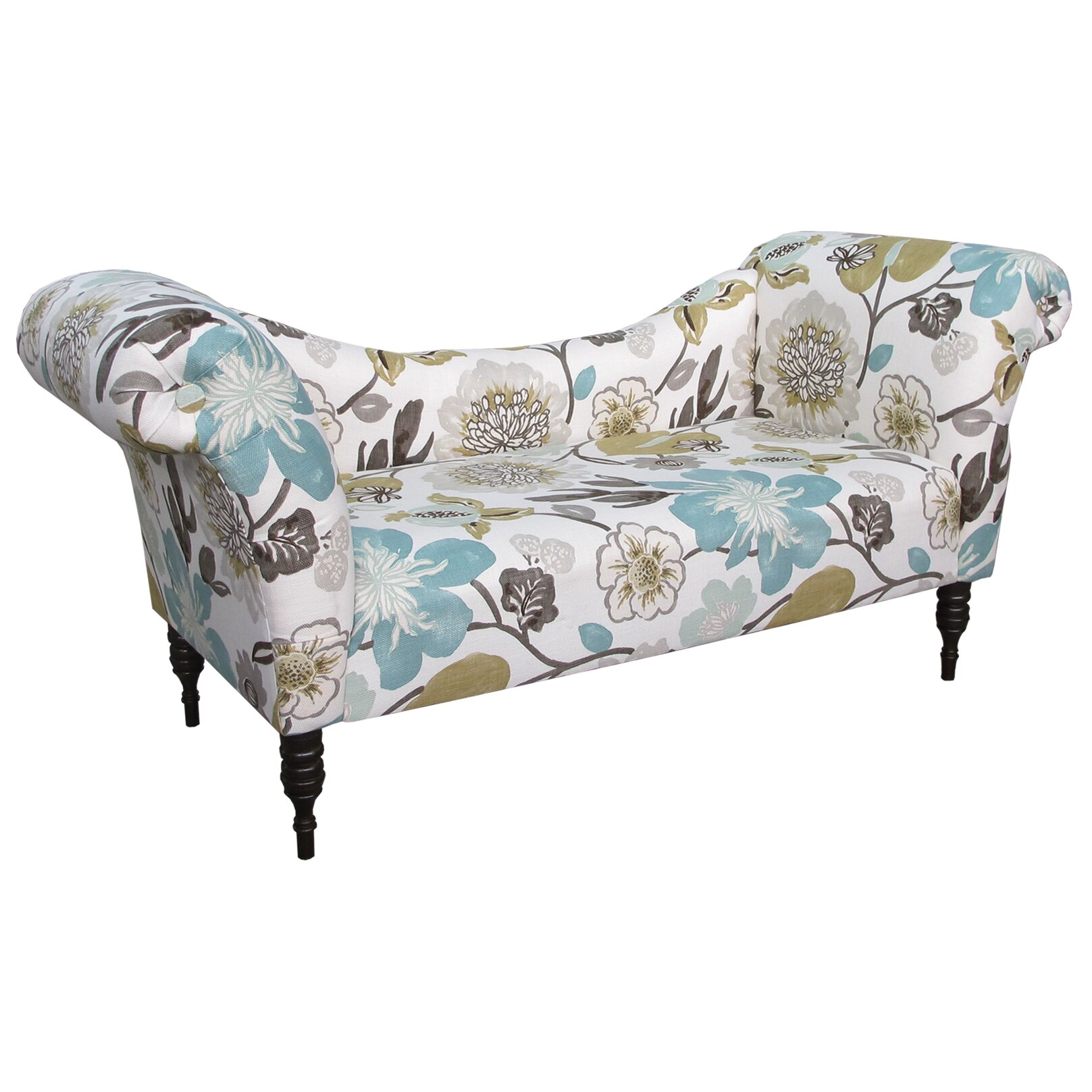 Skyline Furniture Gorgeous Roll Arm Chaise Lounge & Reviews