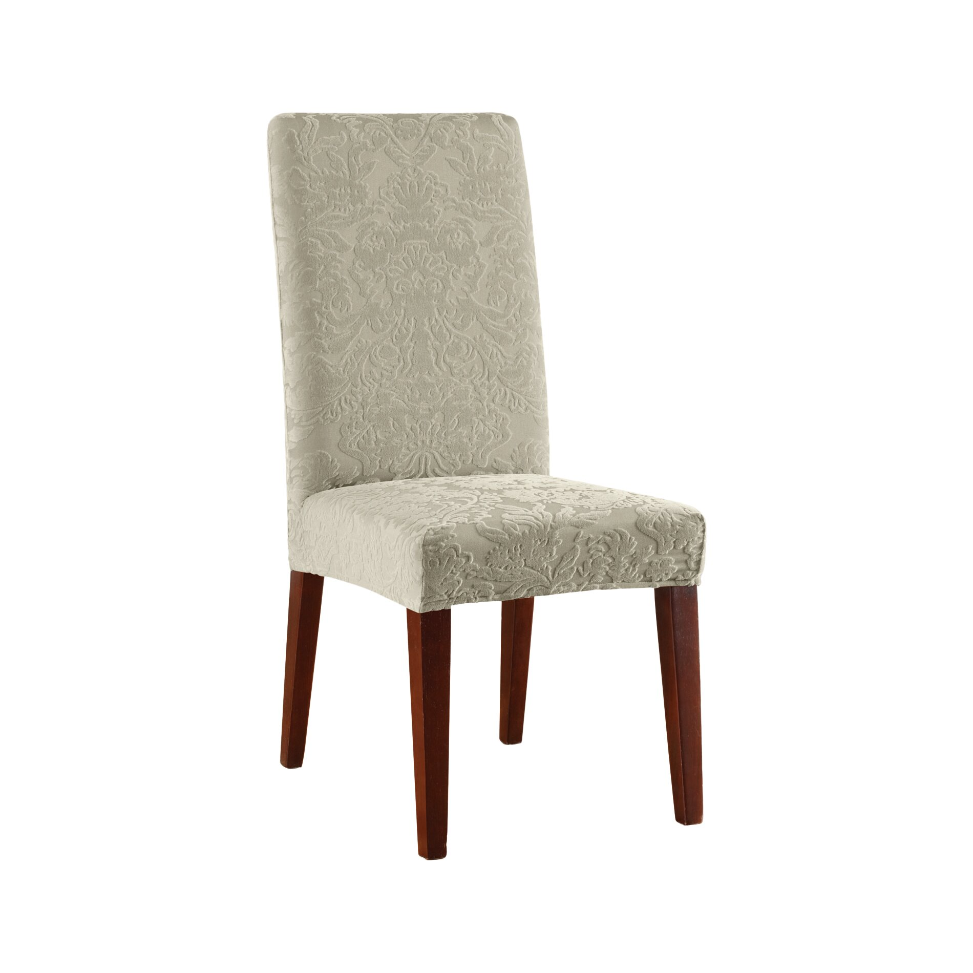 Dining Room Slipcovers Armless Chairs: Sure Fit Stretch Jacquard Damask Dining Chair Slipcover & Reviews