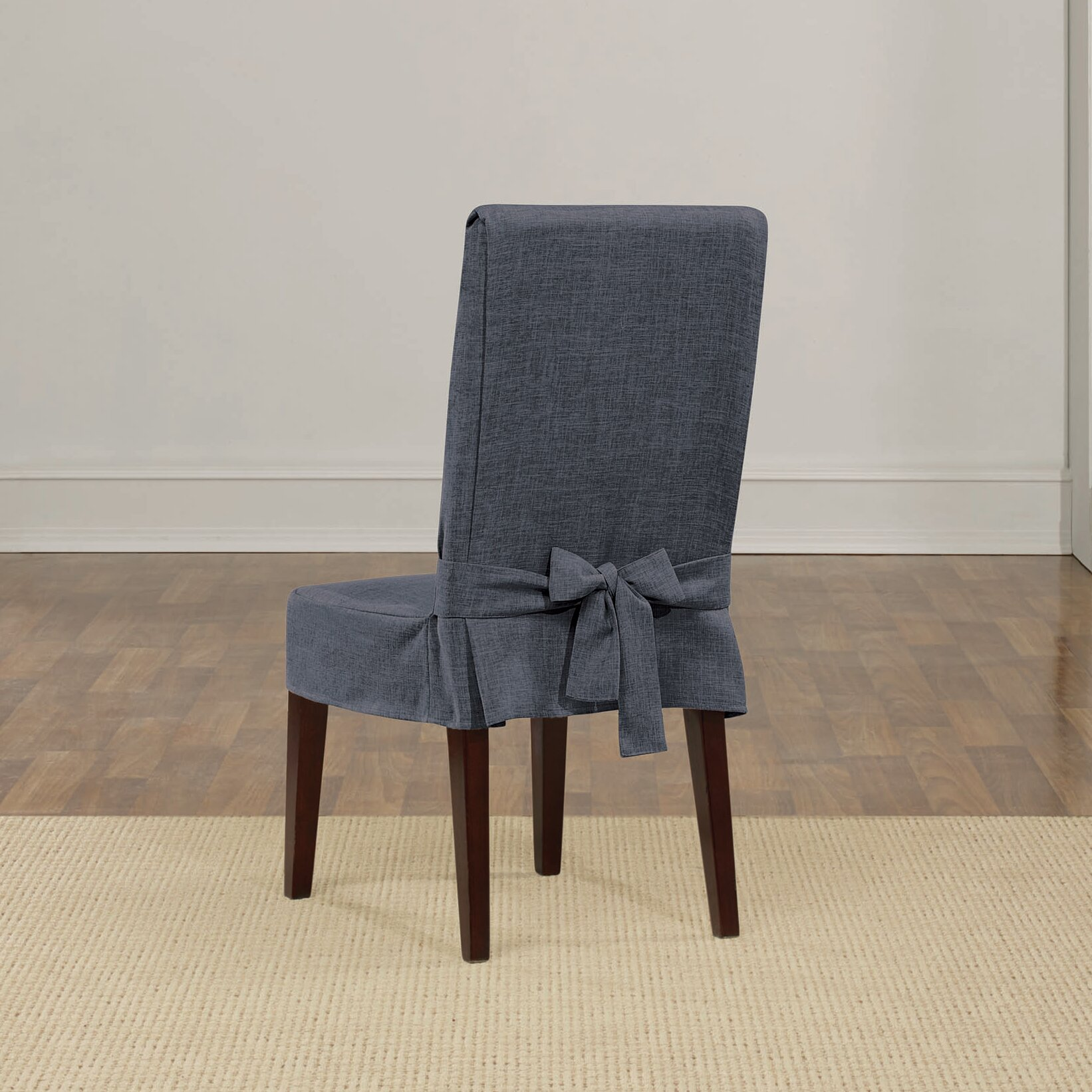 Linen Dining Room Chair Slipcovers Sure Fit Shorty Dining Chair Slipcover Amp Reviews Wayfair