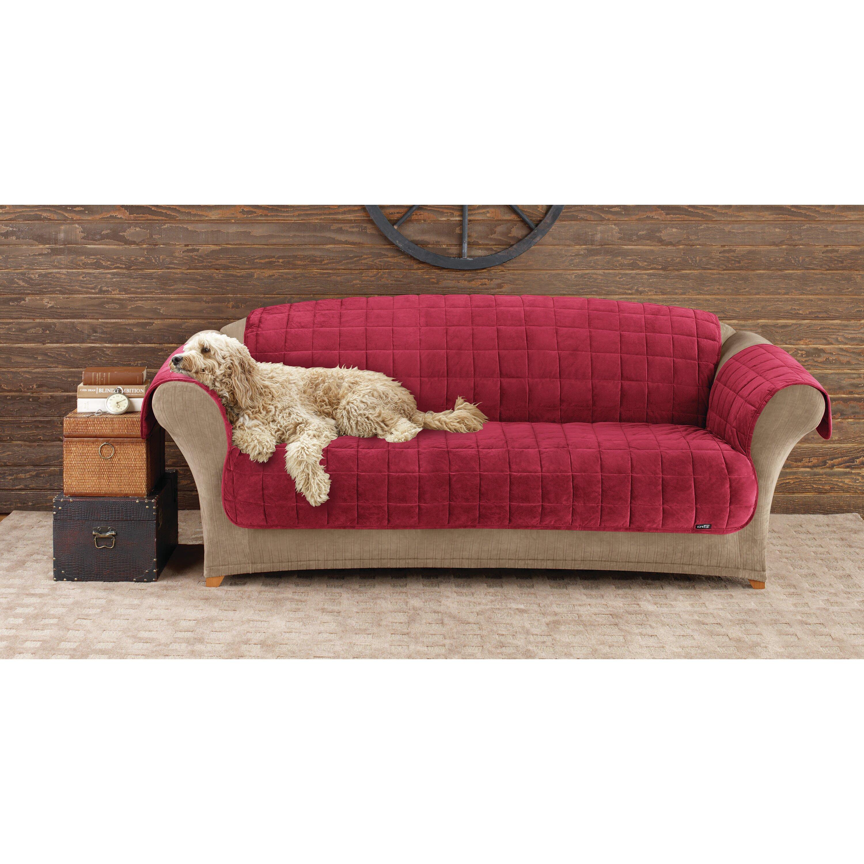 Sure Fit Deluxe Pet Comfort Sofa Slipcover & Reviews