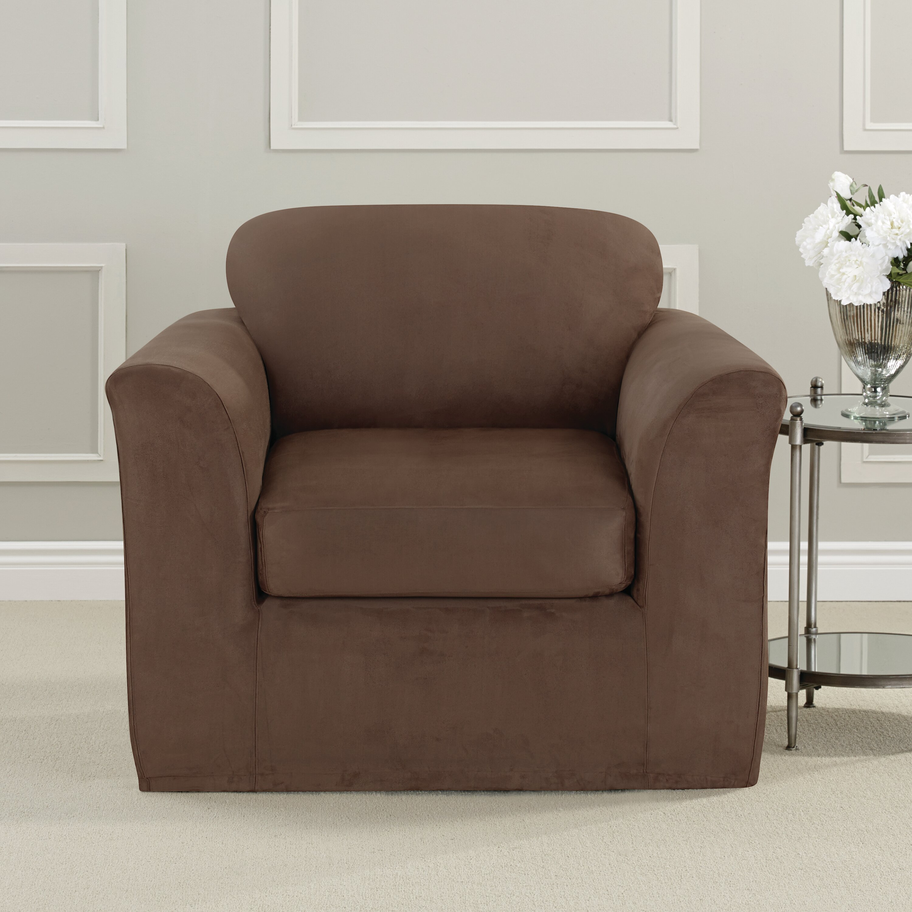 Sure Fit Ultimate Heavyweight Stretch Suede Armchair