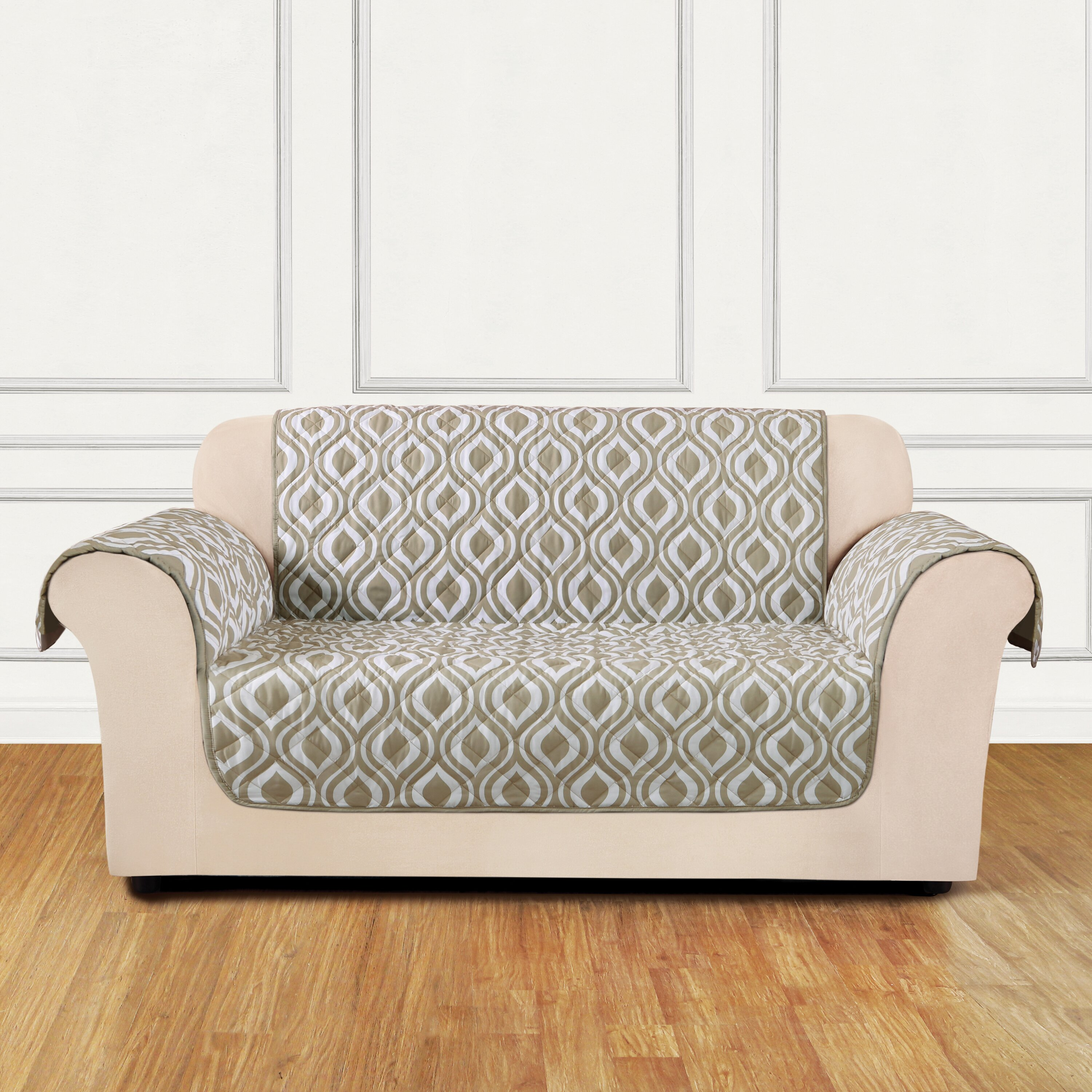 Sure Fit Furniture Flair Flash Loveseat T Cushion Slipcover Reviews Wayfair