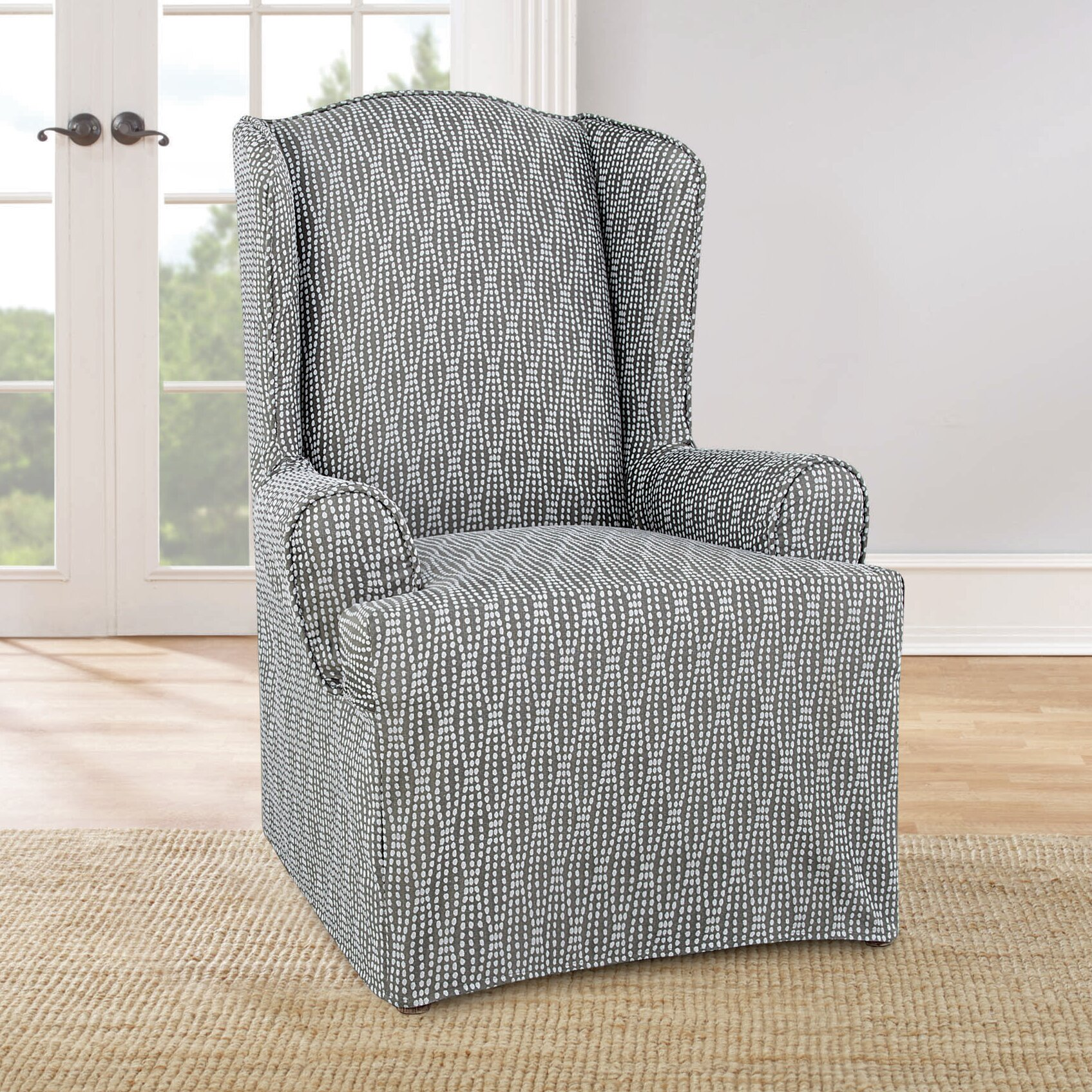 Sure Fit Strand Waverly Armchair Slipcover & Reviews