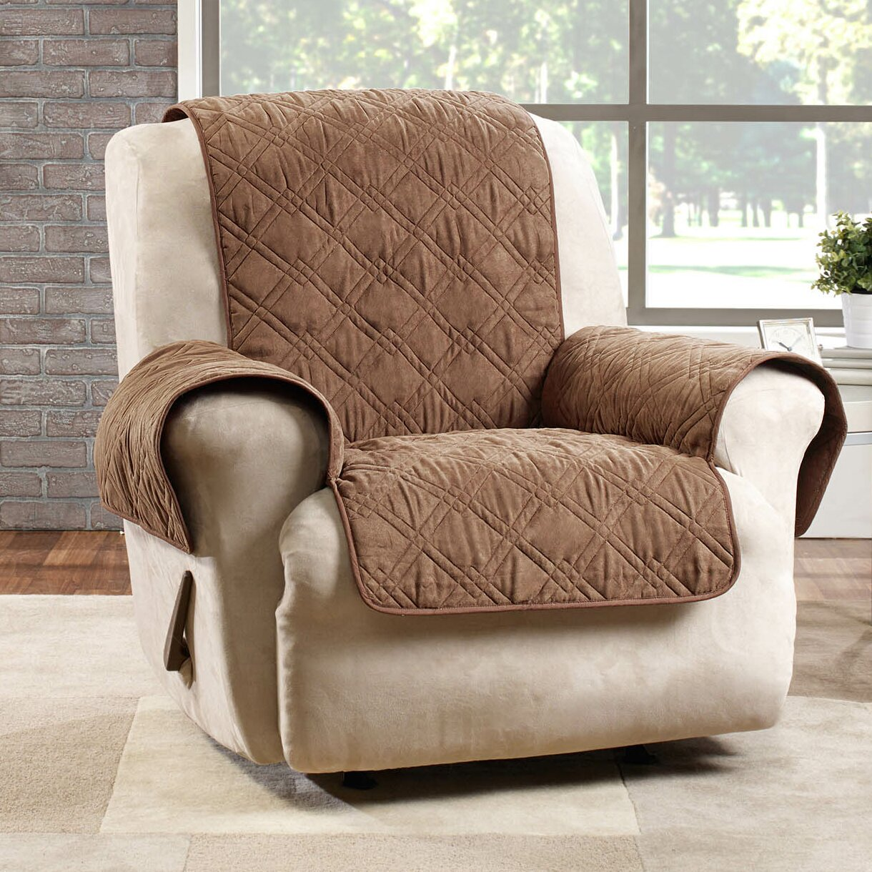 sure fit deluxe recliner slipcover wayfair