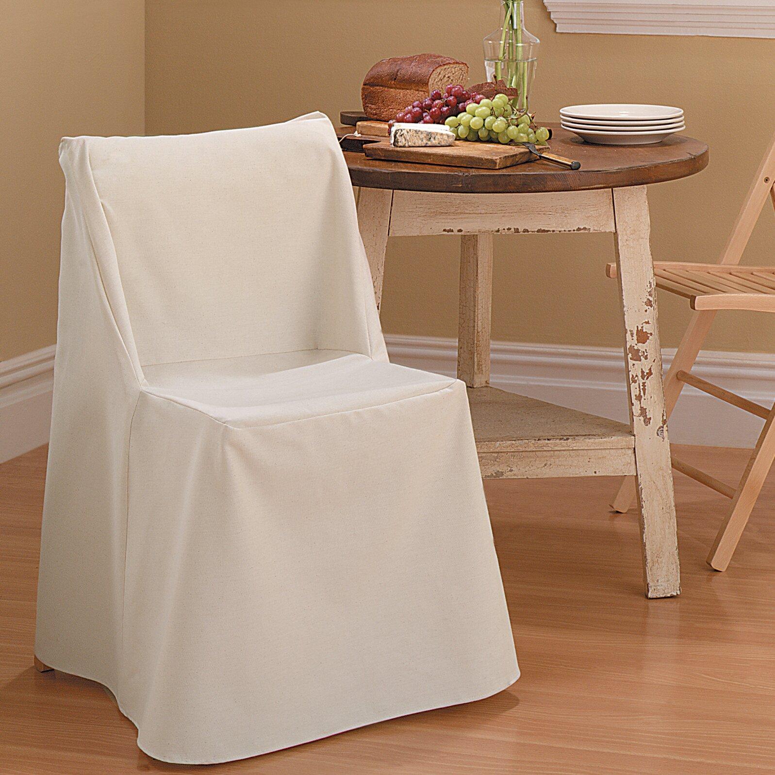 Sure Fit Cotton Duck Folding Chair Slipcover & Reviews