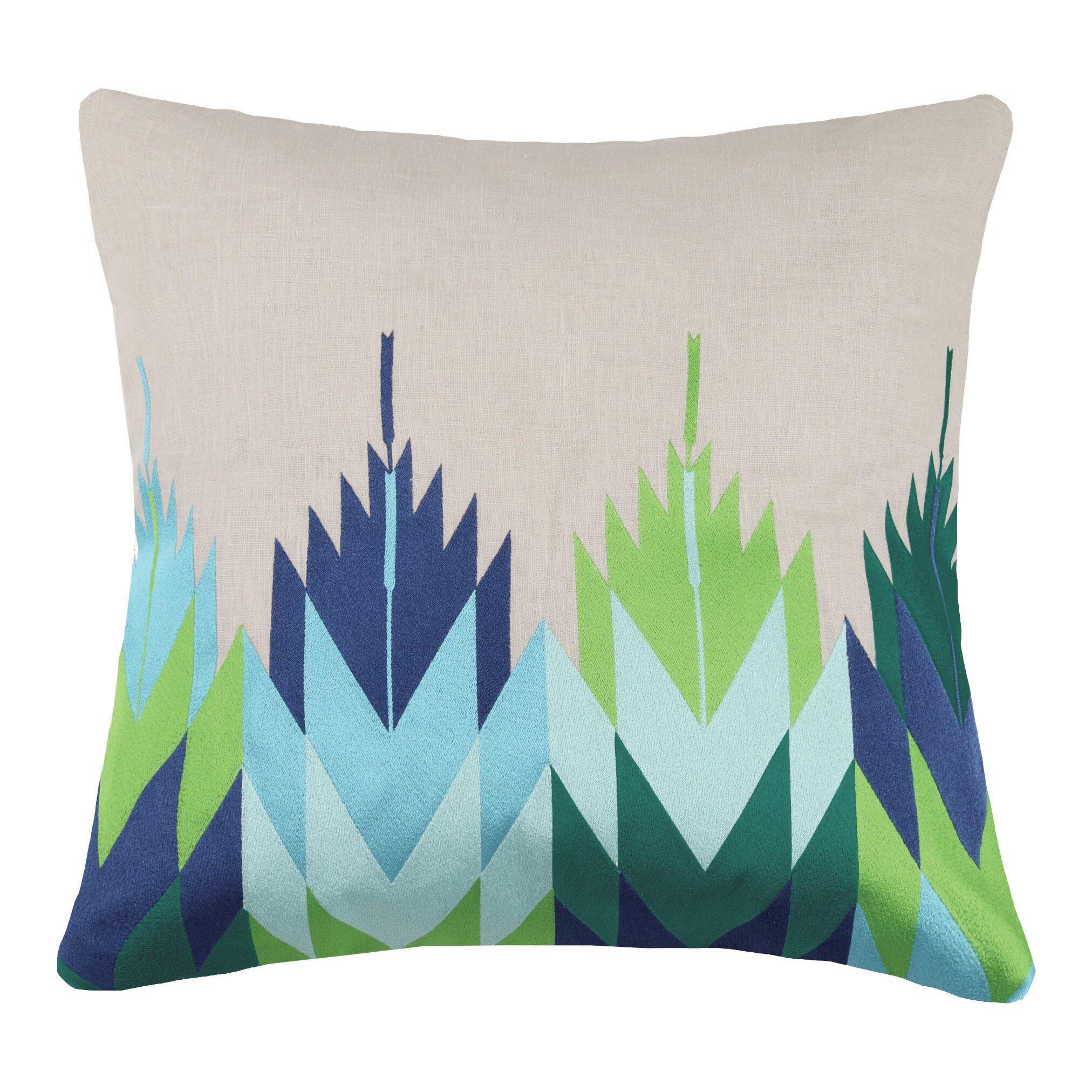 Decorative Pillows Trina Turk : Trina Turk Cypress Embroidered Linen Throw Pillow Wayfair