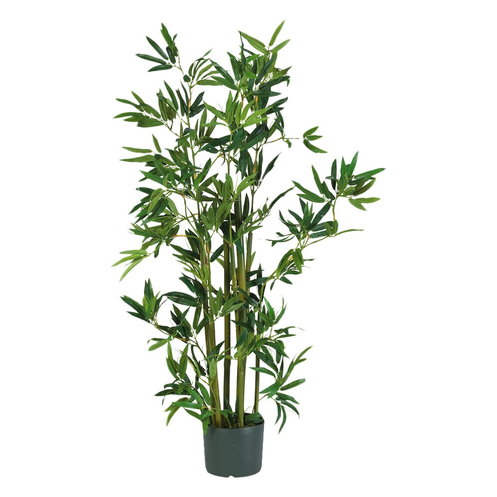 Nearly Natural Silk Bamboo Floor Plant In Pot Amp Reviews