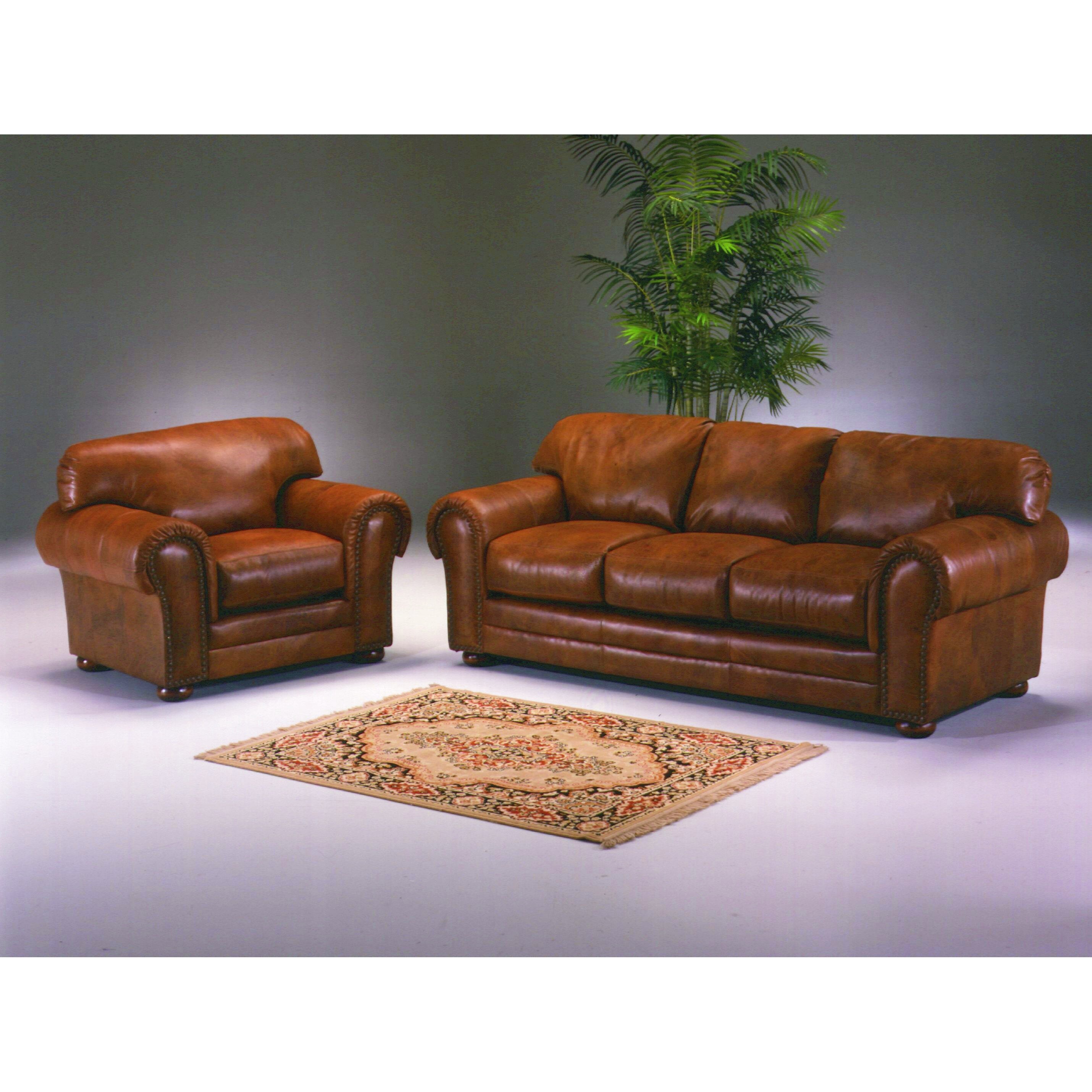 Omnia Leather Cheyenne 3 Seat Leather Sofa Set Reviews Wayfair