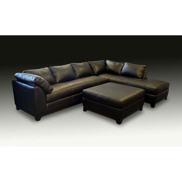 Omnia Leather Villa Sectional Reviews Wayfair