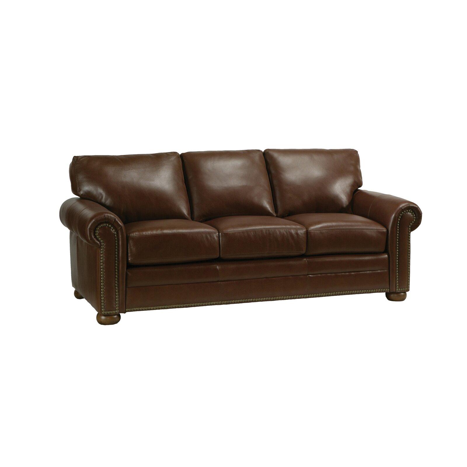 omnia leather savannah leather sofa reviews wayfair