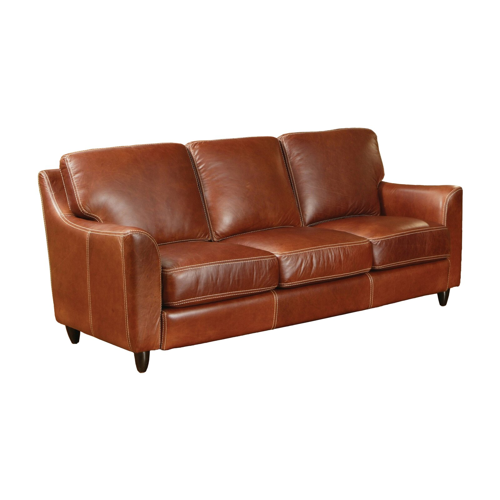 Omnia leather great texas leather sofa reviews wayfair for Leather sofa reviews