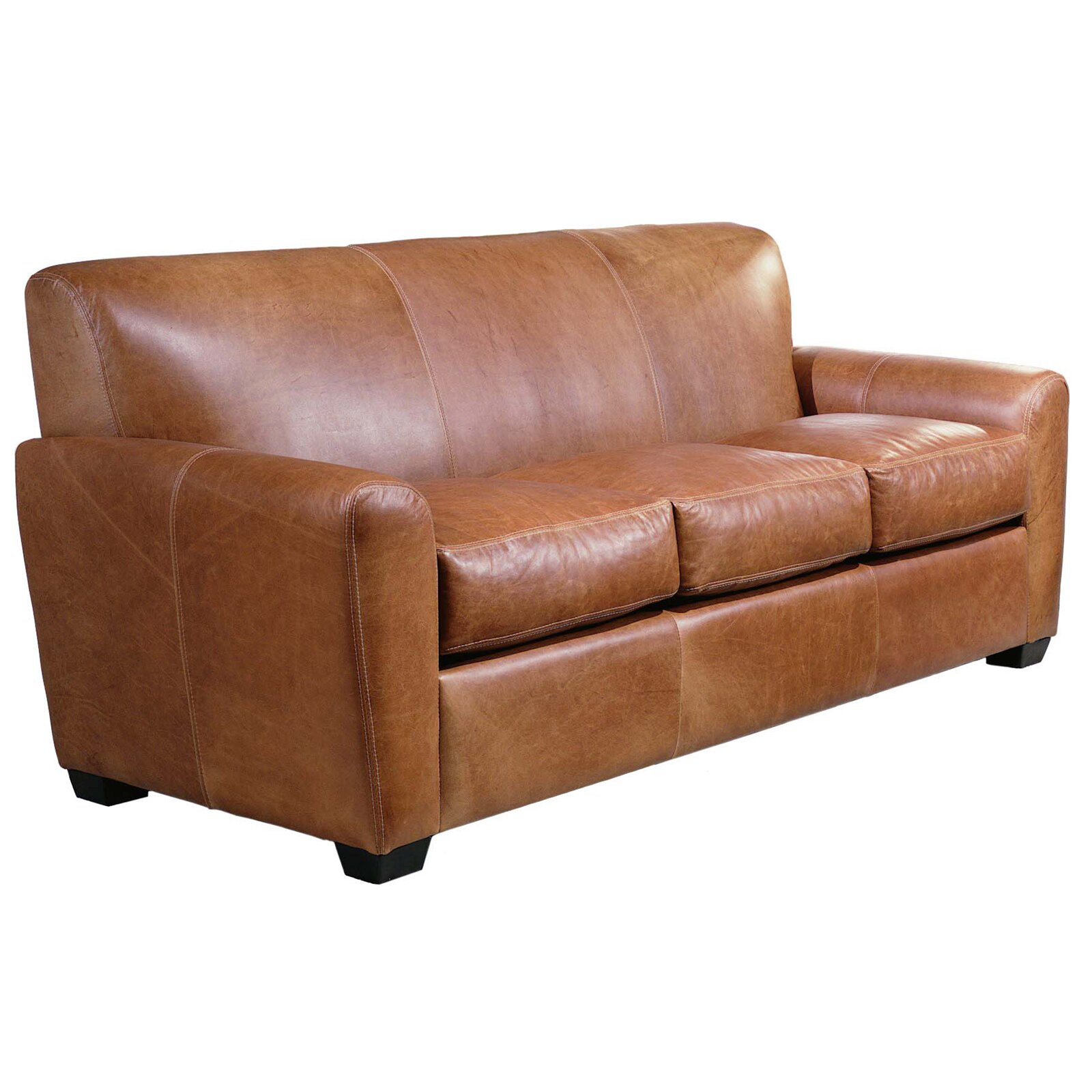 Omnia Leather Jackson Leather Sleeper Sofa