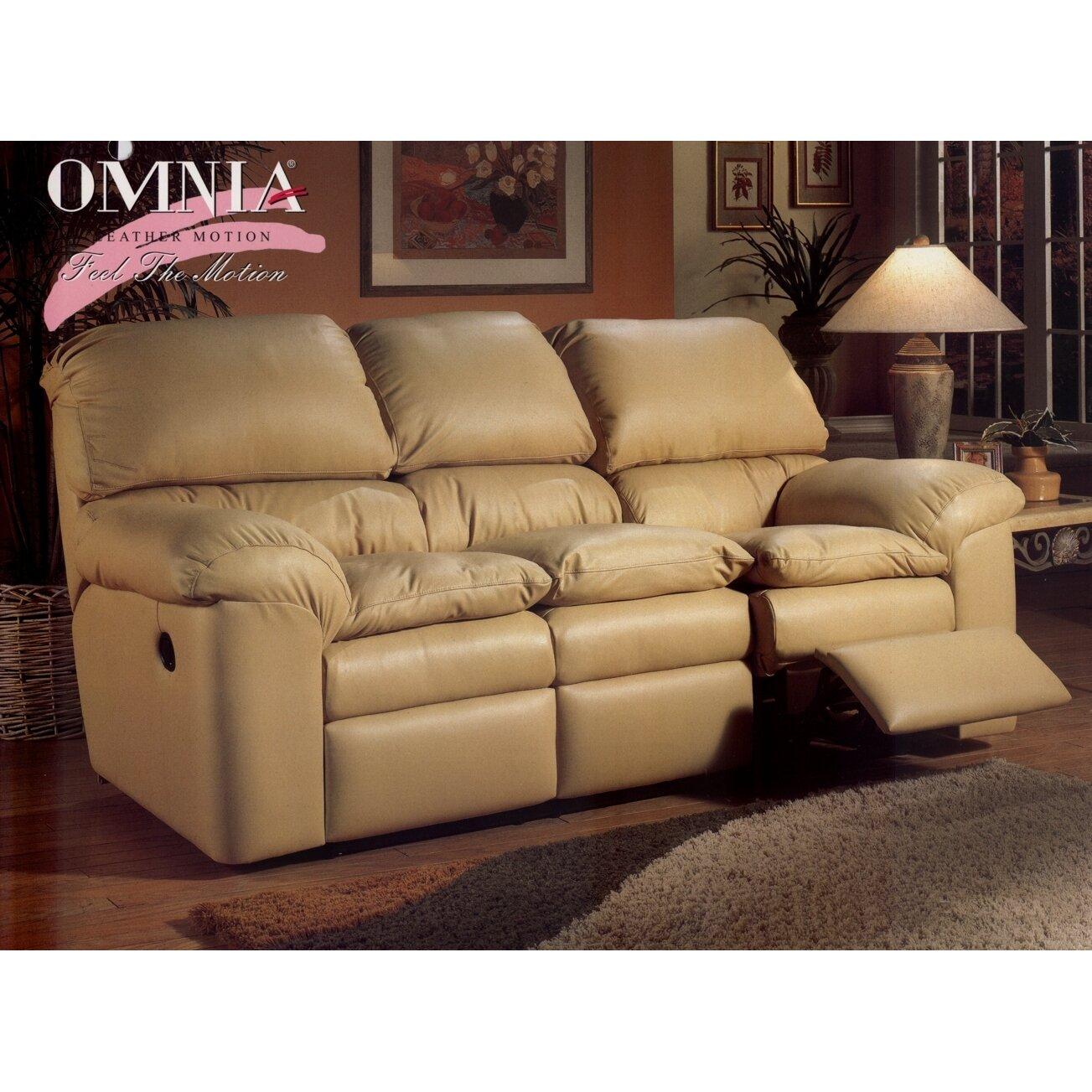 Living Room Furniture: Omnia Leather Cordova Reclining Sofa Living Room Set