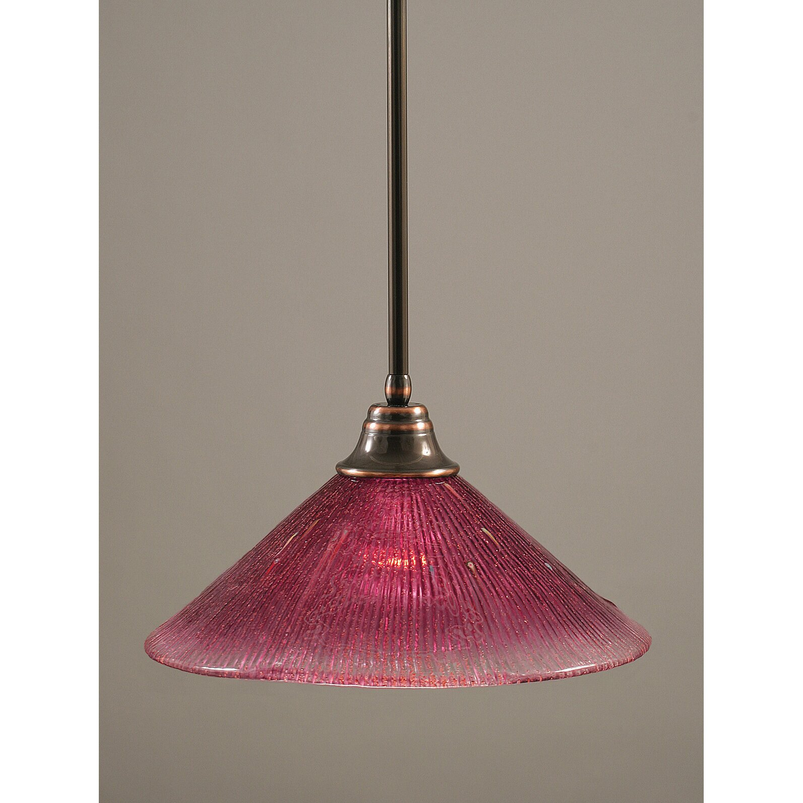 Toltec Lighting Stem Pendant With Hang Straight Swivel