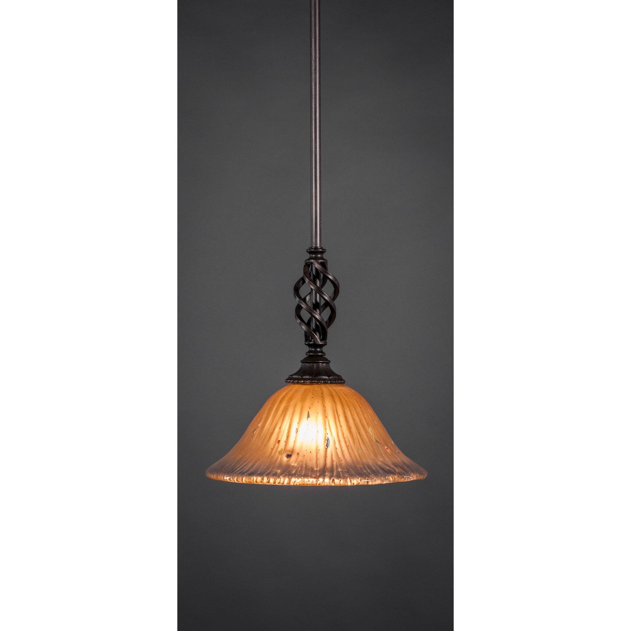 Toltec Lighting Eleganté Mini Pendant With Hang Straight