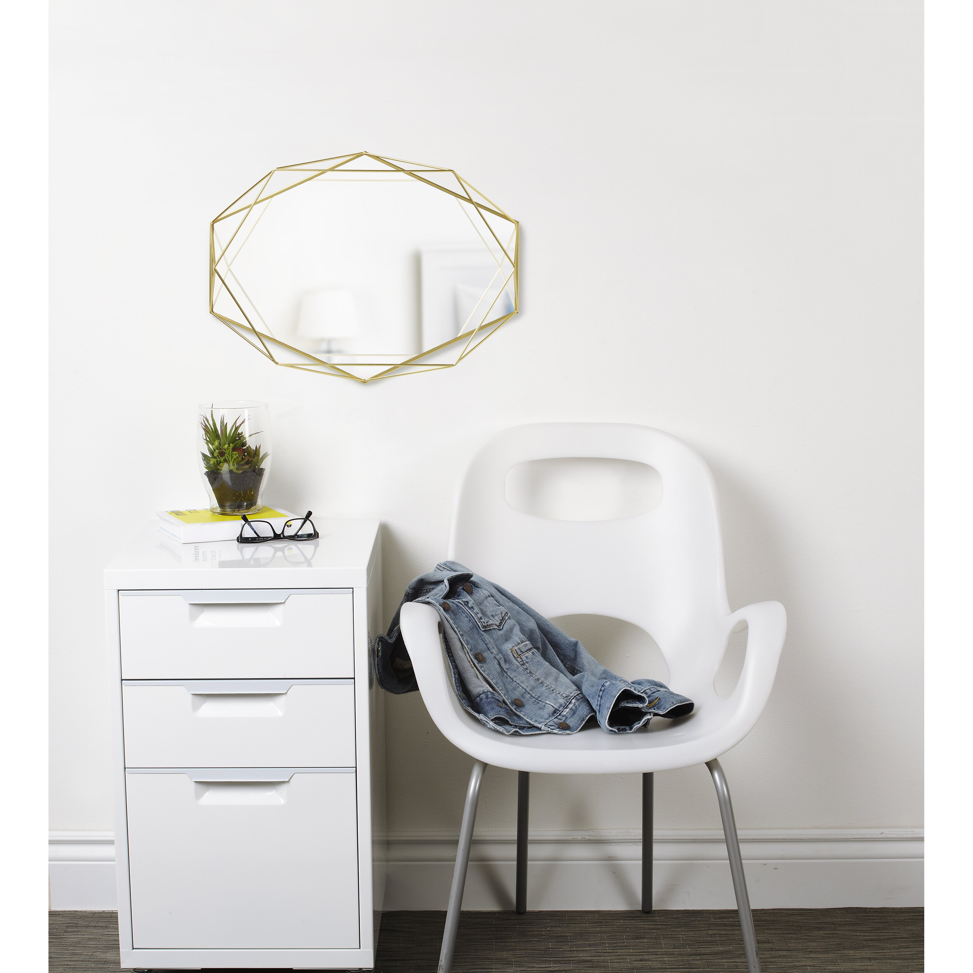 Umbra prisma wall mirror reviews wayfair for Miroir umbra