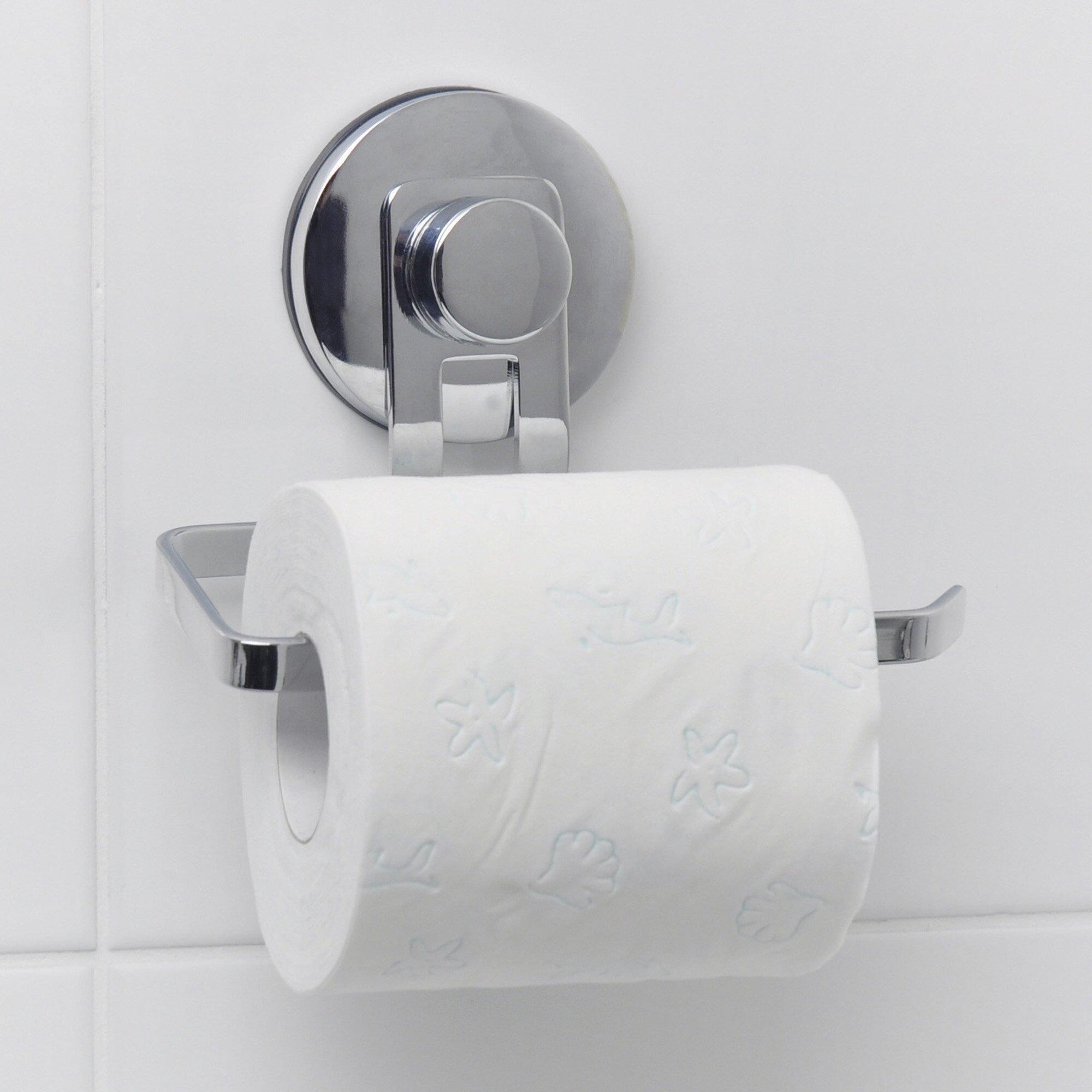 everloc solutions wall mounted toilet paper holder reviews wayfair. Black Bedroom Furniture Sets. Home Design Ideas