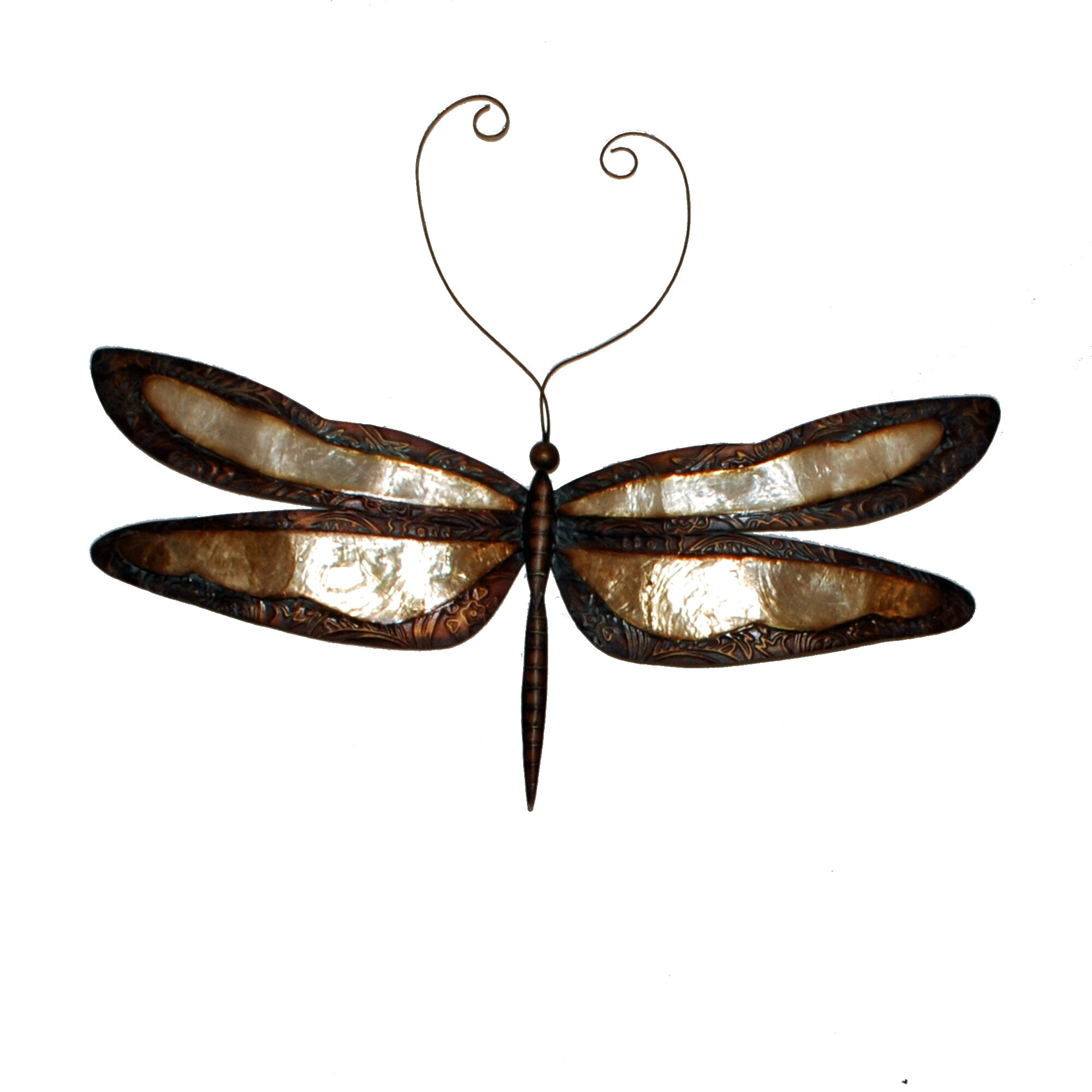 Eangee home design earthtoned dragonfly wall decor for Dragonfly mural