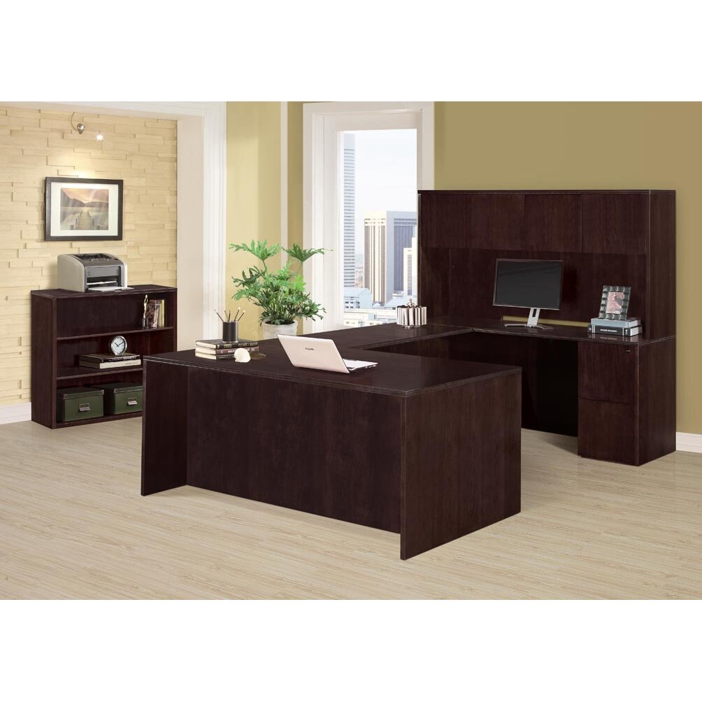 3 Piece Office Furniture ~ Dmi office furniture saratoga piece u shape desk