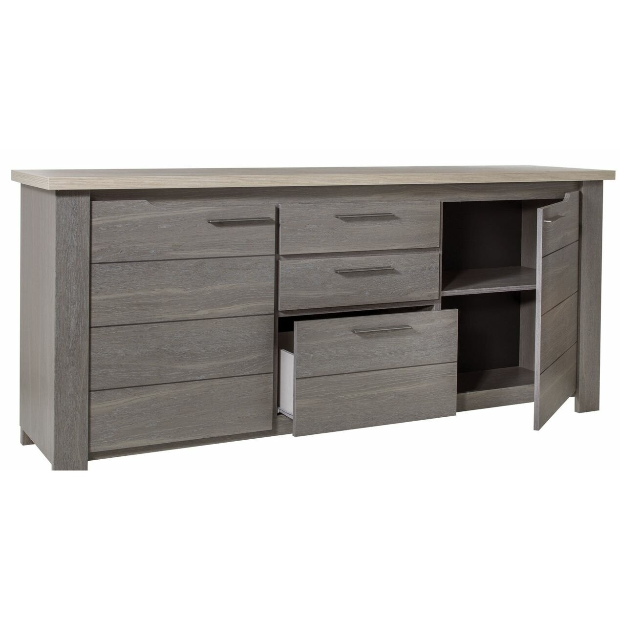 gami toscane 2 door 3 drawer sideboard wayfair uk. Black Bedroom Furniture Sets. Home Design Ideas