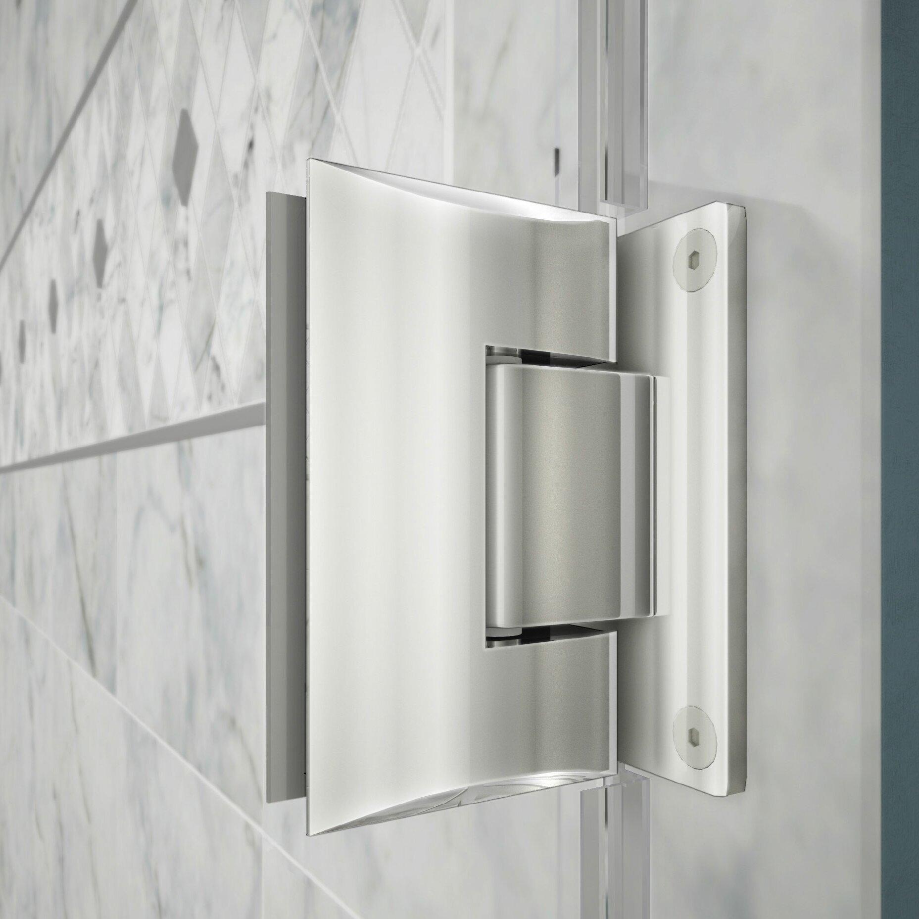DreamLine Unidoor Plus  W X  D Hinged Shower Enclosure - 36 x 36 corner shower stall